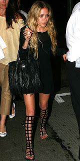 Mary-Kate Olsen in Chanel Gladiator Sandals