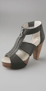 Charlotte Ronson Elektra Zip Front Platform Booties