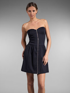 Charlotte Ronson Flare Corset Dress in Navy