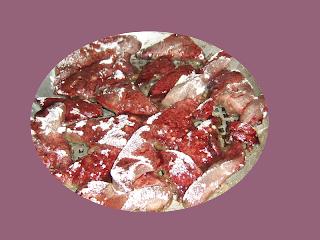 Салат из печени свинины