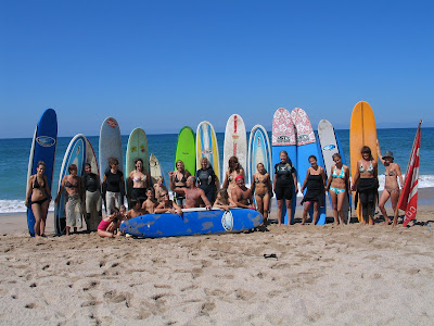 The members of Mamas Surf Club posing