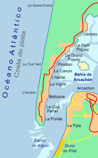 Map of Cap Ferret