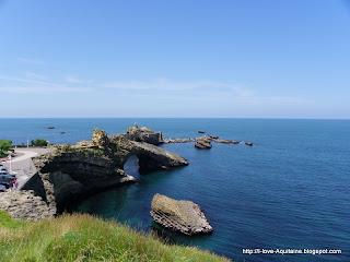 Rocher de la Vièrge in Biarritz