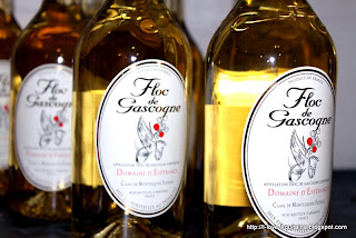 Bottles of white Floc de Gascogne