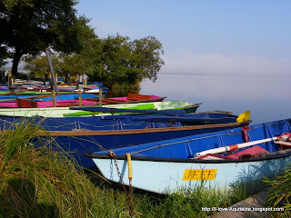Early morning at Leon Lake with the boats