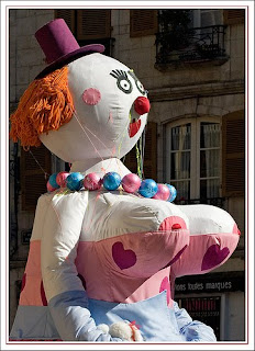 Giant doll at Bayonne Festival procession