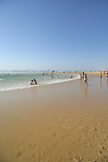 Beach in Mimizan in Landes