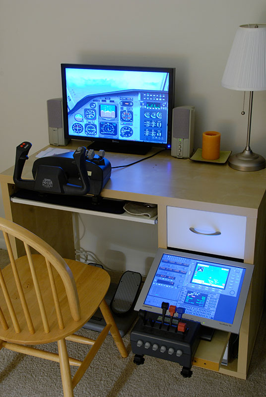 Home ikea desk with flight simulator Ikea simulation