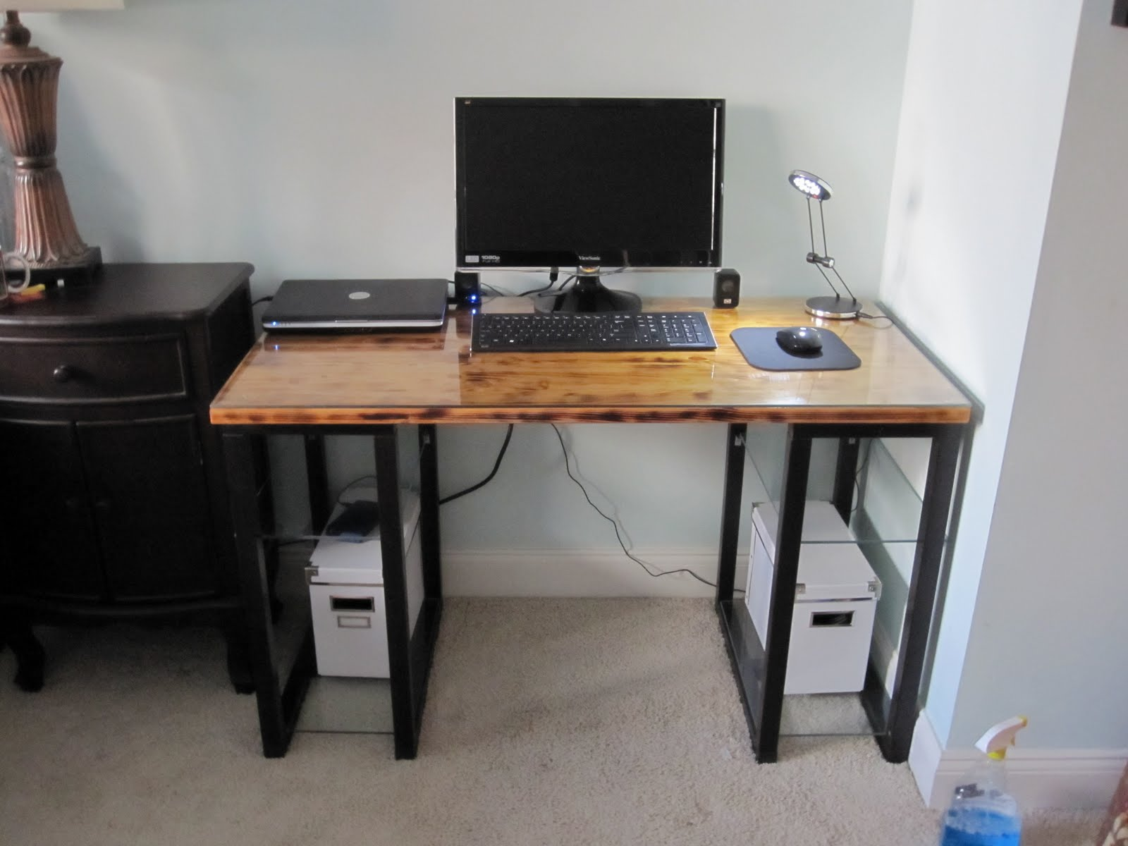 vika desk goes glam ikea hackers ikea hackers. Black Bedroom Furniture Sets. Home Design Ideas