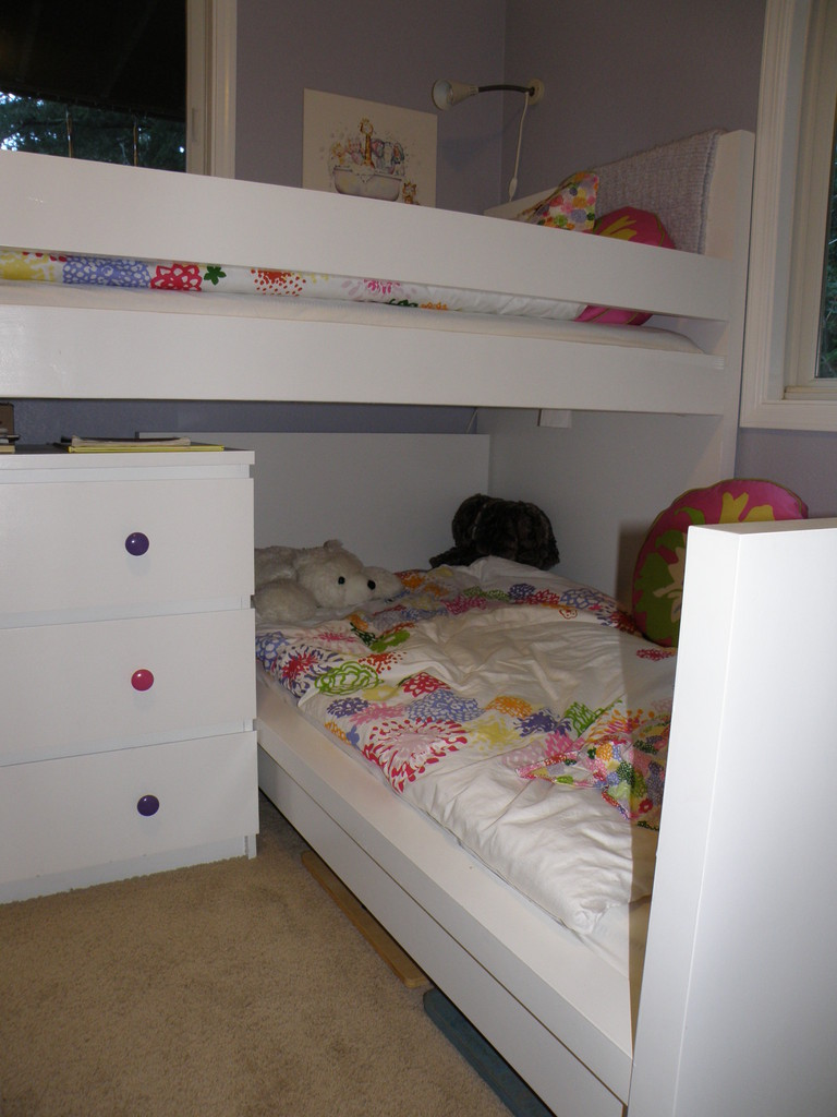 Malm Toddler Bed Under Malm Inspired Bunk Ikea Hackers