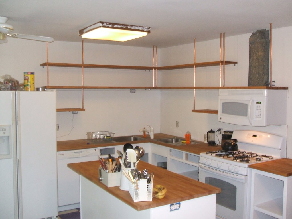 Modern Kitchen White Shelves Wood Cabinets  Google Search Simple Black And White Kitchen Designs Decorating Inspiration