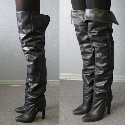 Thigh Boots, Women's Thigh Boots, Black Thigh High Boots, Thigh