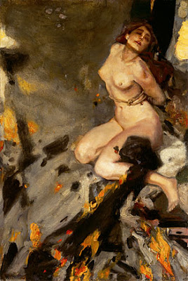 Nude Painting by German Artist Albert von Keller