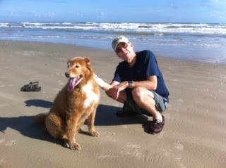 Joe and Max visit the Gulf Of Mexico off of the Texas Coast.