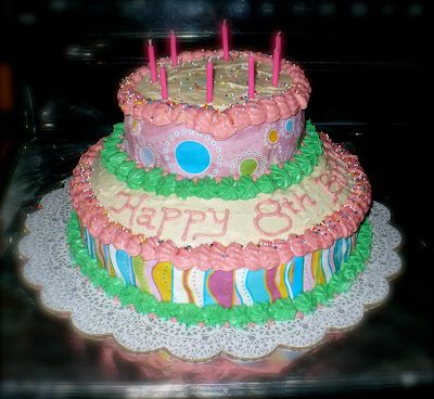 8Th Birthday Cake Ideas http://petes-island.blogspot.com/2010/04/girls-8th-birthday-cake.html