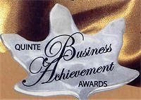 Winner of the Quinte Business Achievement Award