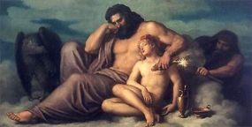 クリスチャン・グリーペンケァル作。ゼウスが美少年ガニュメデスと何かしてるスキに、プロメテウスが…