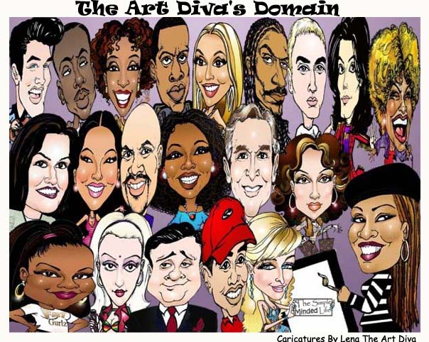 The Art Diva's Domain..Caricatures By Lena