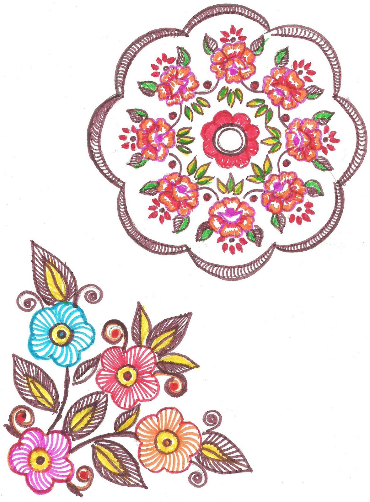 Art N Craft Embroidery For Simple Fabric Painting Designs Tablecloth 588gtk