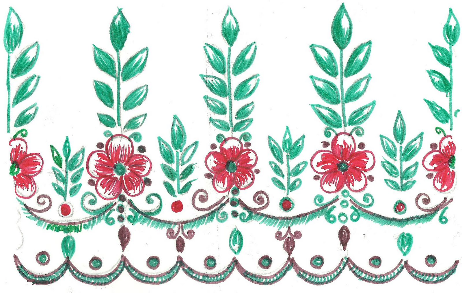 Outline embroidery designs for tablecloth - Art N Craft Fabric Paint Designs Art N Craft Hackbreizhfo Choice Image