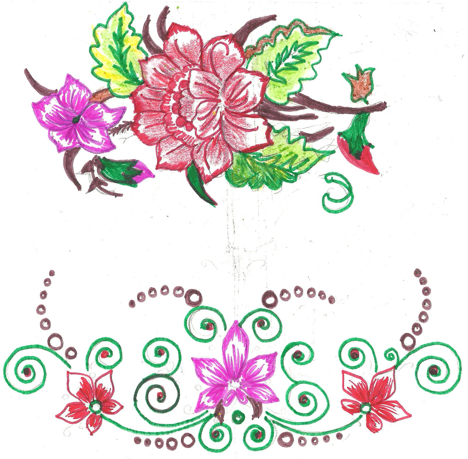 Bed sheet design for paintings - Fabric Paint Designs Fabric Painting