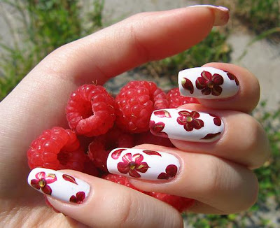 Beauty Flower Nails Art-1