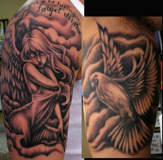 New full shoulder tattoos thebest tattoos designs for Sexy angel tattoo