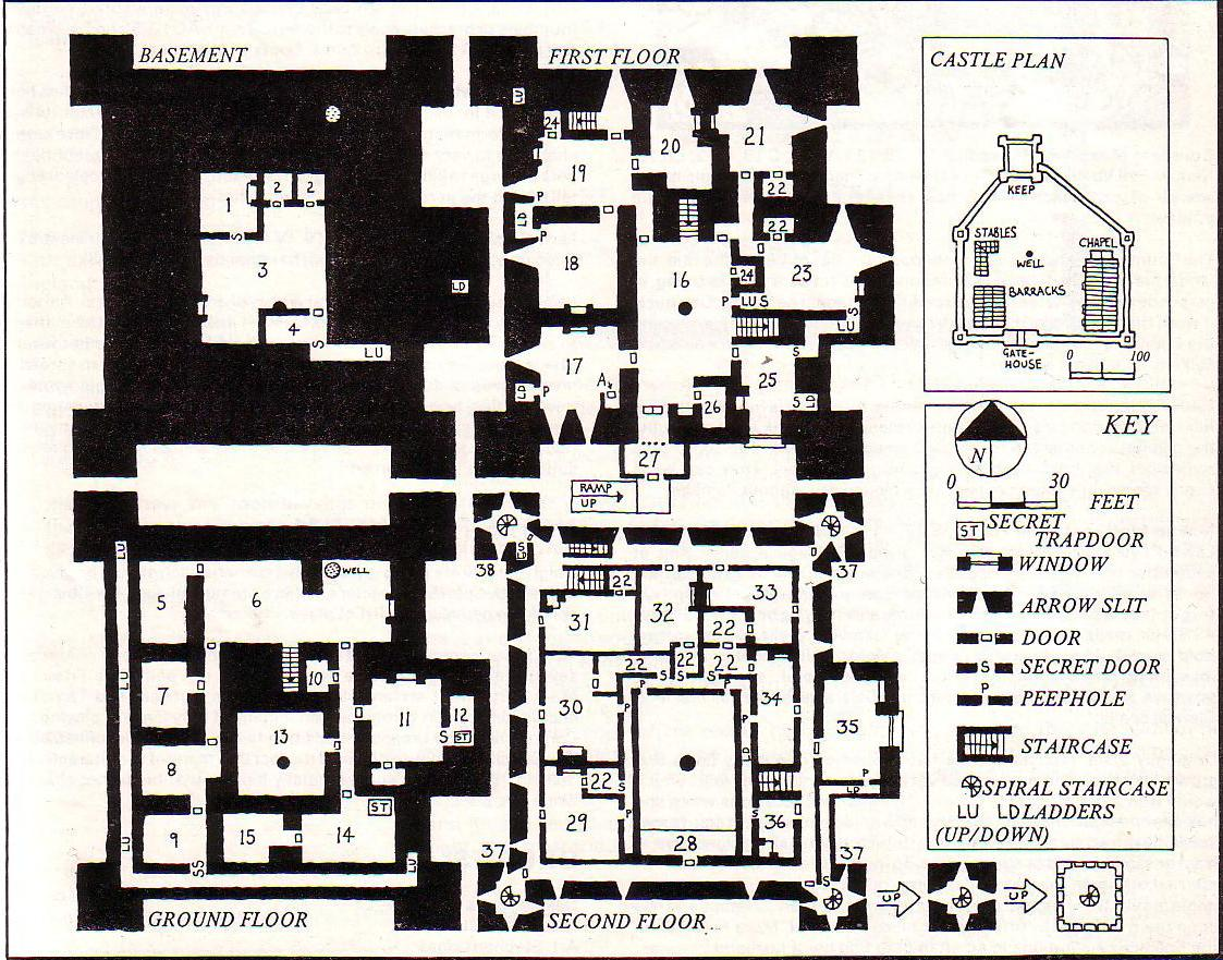 Fantasy Castle Floor Plans http://leadpeople.blogspot.com/2010/05/old-school-maps-2.html