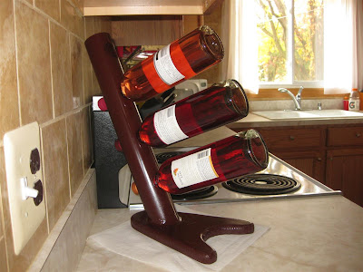 how to make a wine rack, homemade, bottles