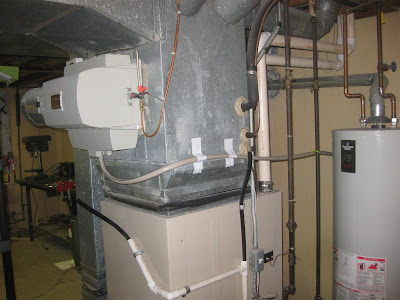 furnace humidifier overflow tube, water constantly running, drain