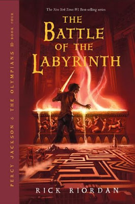 rick riordan, battle of the labrynth, book cover, percy jackson, book 4