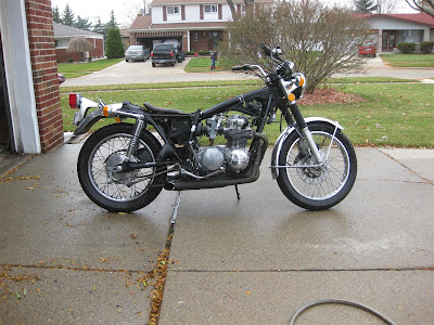 motorcycle prep, cleaning, maintenance, honda CB500