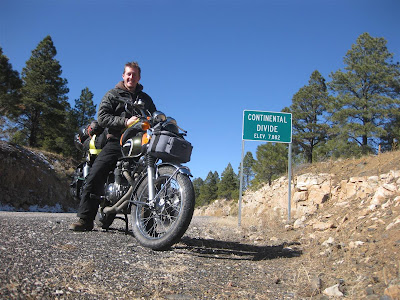 continental divide, new mexico, sign, motorcycle trip, ride