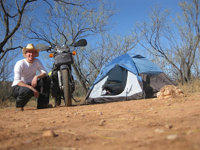 palo duro campground, site, tent, road trip