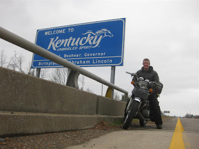 welcome to kentucky, unbridled spirit, motorcycle trip, thousand miles