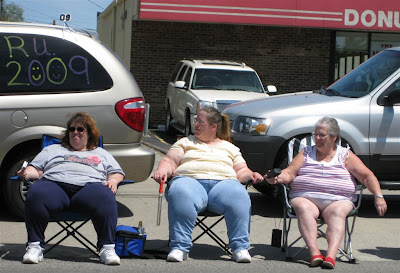 fat people love candy, donutown, redford, parade