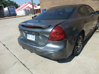car accident, pontiac grand prix, detroit, I-75, rear end