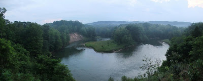 panorama view, manistee river, southern michigan