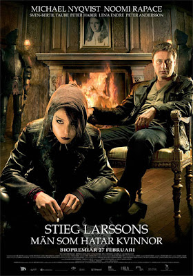 girl with the dragon tattoo, sweeden movie poster