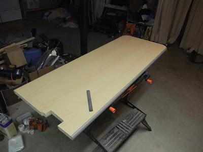 cutting out a kitchen counter, bar, island