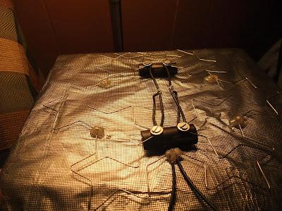 Fractal Antenna TV, weld, solder, wire, plate