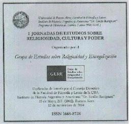 Actas en CR-Rom de la I JERCP organizada por GERE, noviembre 2004