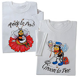 bride and groom to bee wedding t-shirts