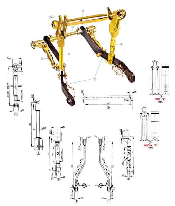 Three Point Mechanism : Linkage parts manufacturer three point system