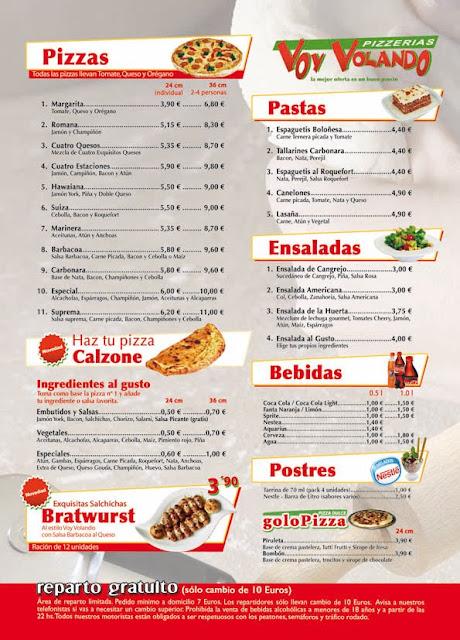 mejores pizzas en lorca voy volando lorca carta menu ofertas a domicilio