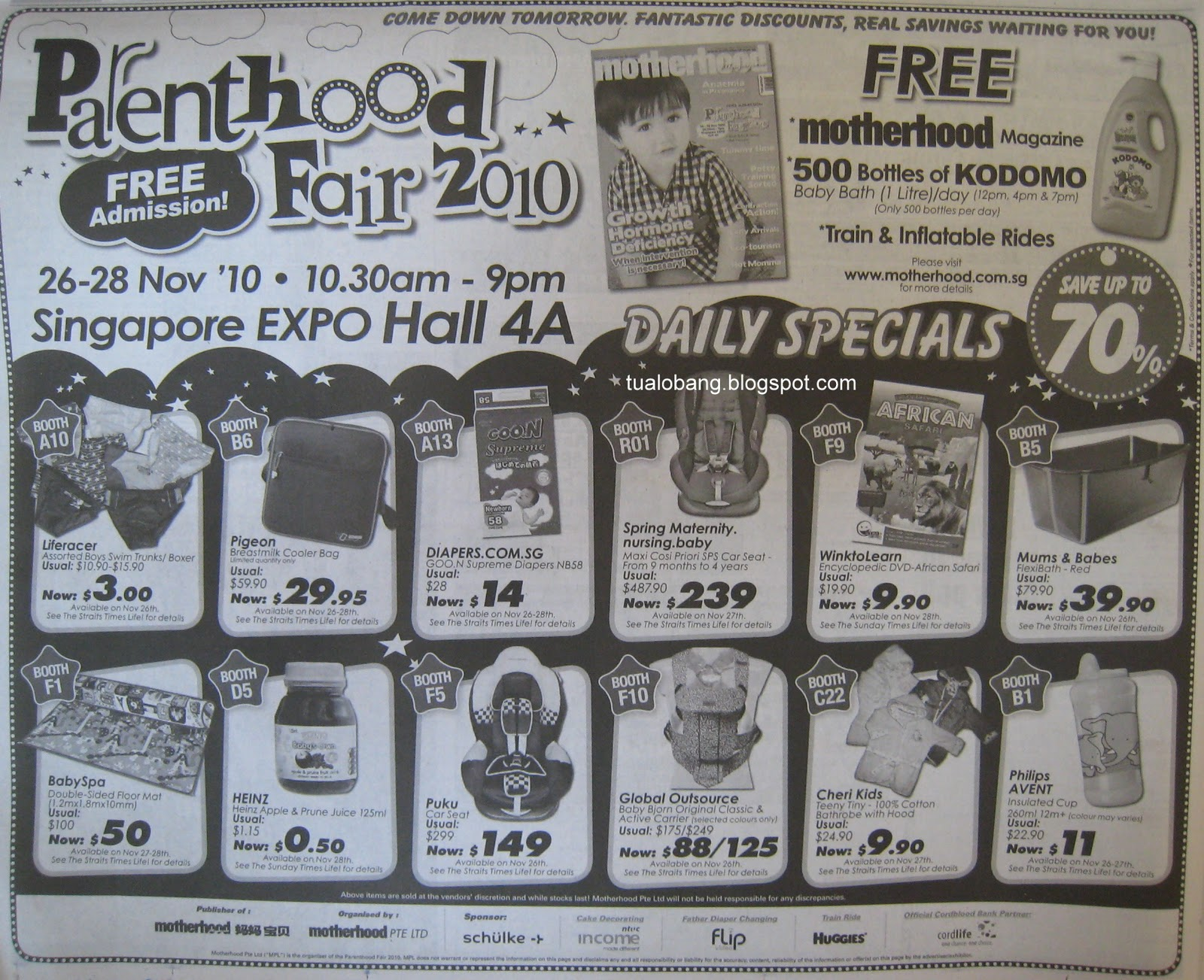 Tua Lobang - Singapore: Parenthood Fair@Sin Expo Hall 4A, 26 to 28 ...