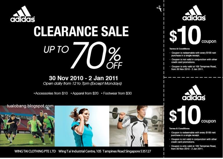 Tua Lobang - Singapore: Adidas Clearance Sale, up to 70% at Wing ...