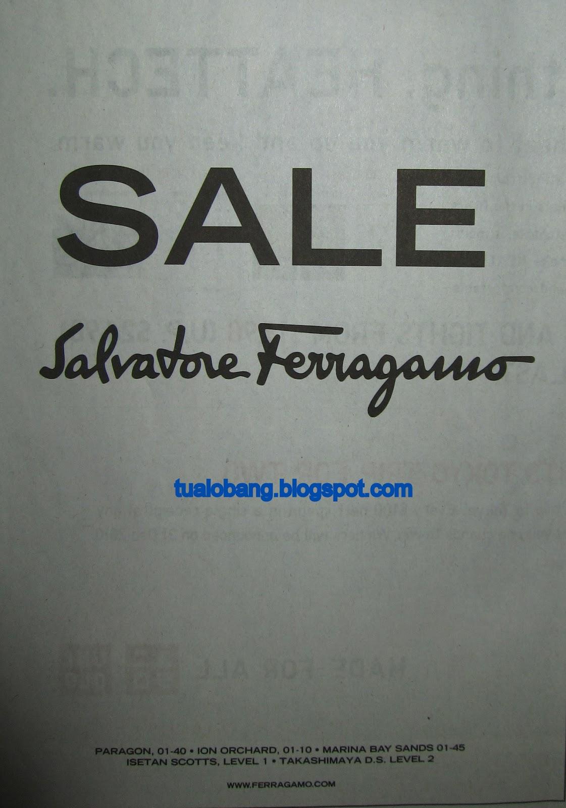 Tua Lobang: Salvatore Ferragamo Sale now on!