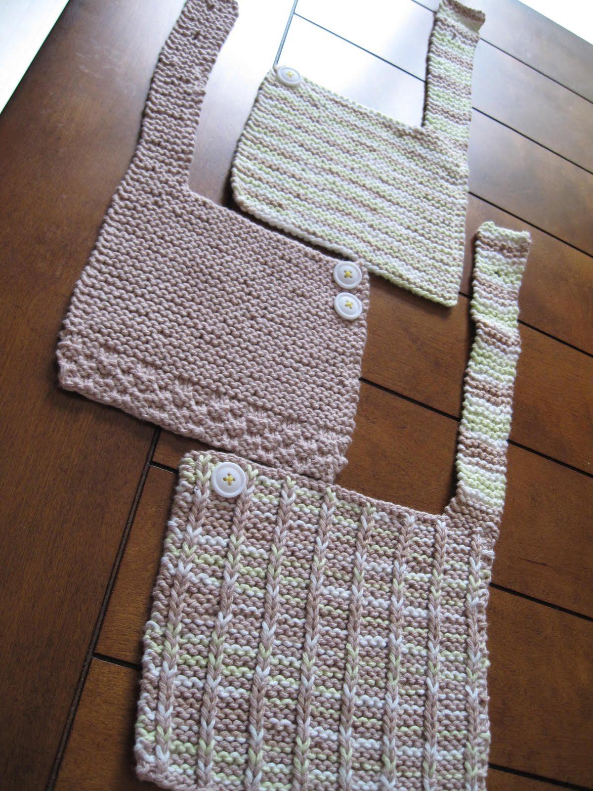 Knitting Like Crazy: Some Baby Bibs