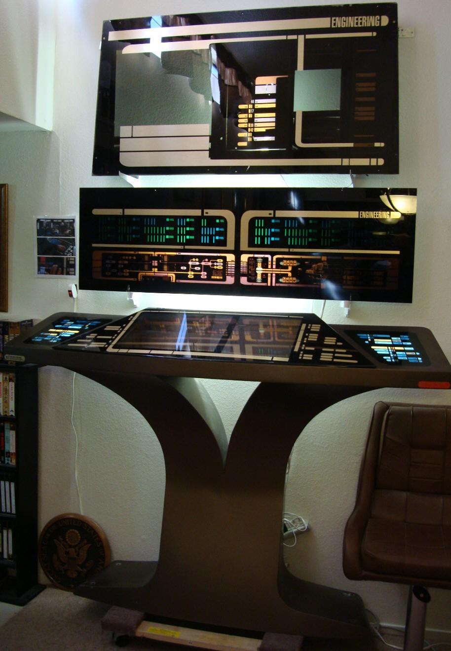 Star trek prop costume auction authority star trek viii x u s s enterprise e bridge - Star trek online console ...
